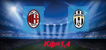 Милан - Ювентус: Прогноз на 28 октября 2017